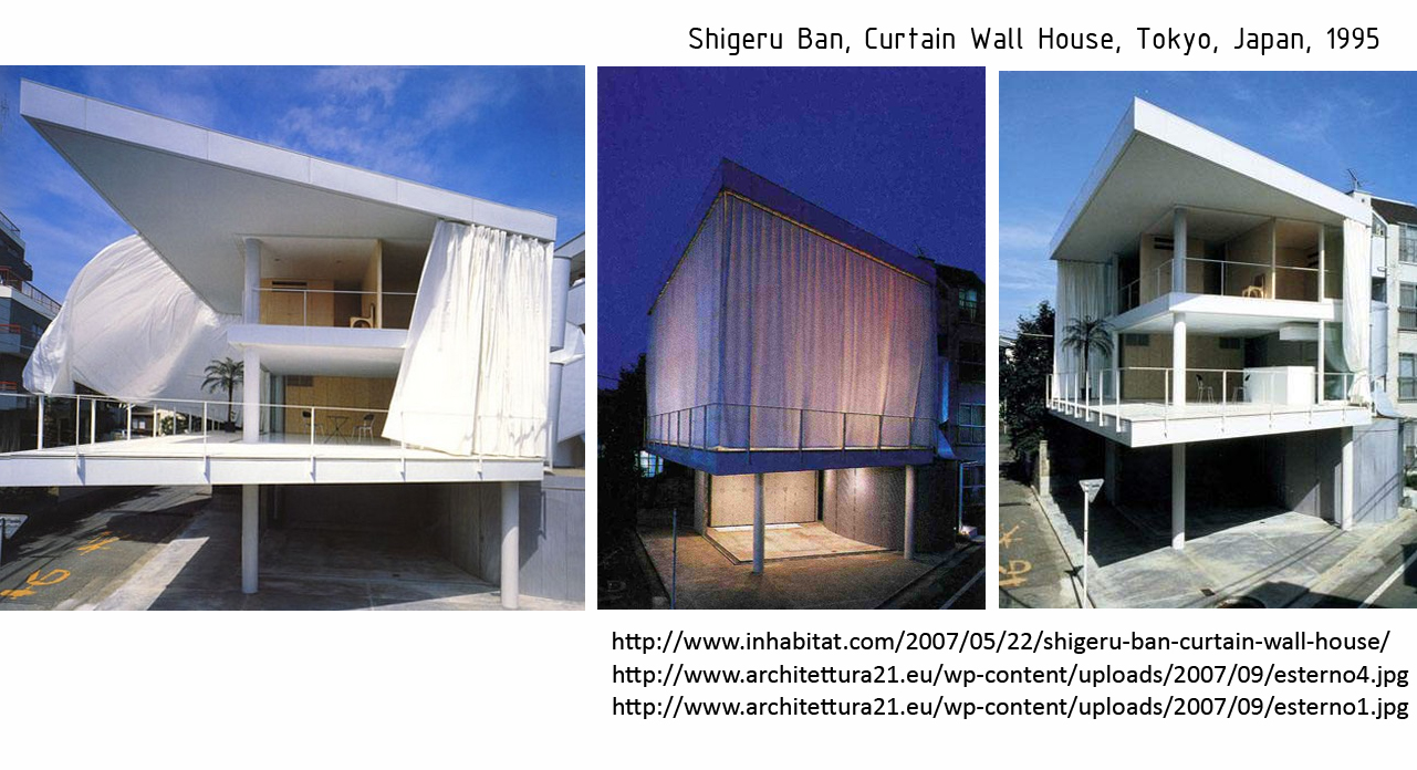 Curtain Wall Home : Interaction architectural between a house