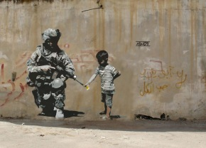 Banksy (Banging your head against the wall)