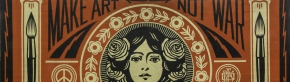 Santa Fe University of Art and Design Wall Mural, Detail. by Shepard Fairey [Source: www.obeygiant.com].